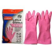 Large Pink Rubber Glove