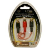 Y AUDO CABLE RCA PLUG TO 2 RCA JACK