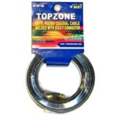 18FT COAXIAL CABLE BLACK SLEEVE