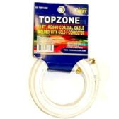 18FT COAXIAL CABLE WHITE SLEEVE RG59U