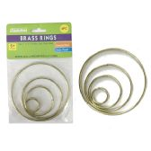 4 Piece Craft Brass Rings