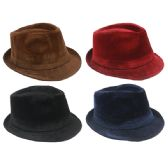 ASSORTED SOLID COLOR FEDORA HAT