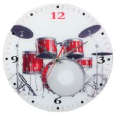 WHITE CLOCK WITH DRUMS