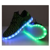 LED SHOES ADULT MIX SIZE BLACK SPECKLED WITH GREEN
