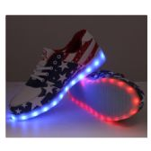 LED SHOES ADULT MIX SIZE AMERICAN FLAG STYLE