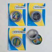Stationary Filled Magnetic Tins Blister Card
