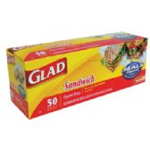 50 COUNT GLAD SANDWICH BAGS