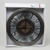 Clock 12inch Distressed Look Numbers White Boxed