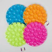 12in Plastic Egg Serving Plate in 4 Summer Colors