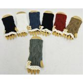 Wholesale Vintage Look Lace Knitted Gloves with Buttons