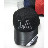 """Los Angeles"" Base Ball Cap With Mesh Top"