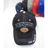 """""""Los Angeles"""" Base Ball Cap With White Stitching"""