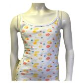 Strawberry Girls Spaghetti Strap Tank Top Size 1-3 In White