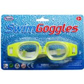 "6"" SWIMMING GOGGLES IN BLISTER CARD, 4 ASSRT CLRS"