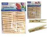 50PC Wooden Clothespins, Cloth Pegs