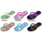 GIRLS PCU FLIP FLOPS WITH PHOTO REAL PRINTED FOOTBED