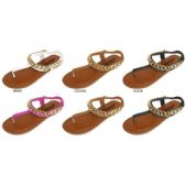 GIRLS PU THONG SANDAL WITH CHAIN DETAIL