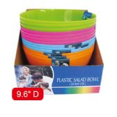 "9.6""plastic bowl Assorted Color"
