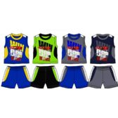 SPRING BOYS CLOSE MESH SHORT SETS NEWBORN