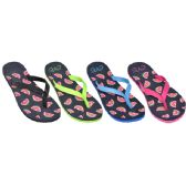 Ladies Watermelon Flip Flops