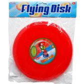 """9"""" FLYING DISK IN POLY BAG W/ HEADER, 4 ASSRT CLRS FRISBEE"""