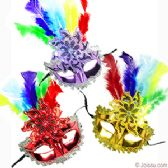 SEQUINED FLOWER & FEATHER MASKS