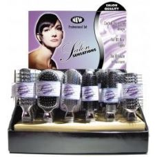 Salon Sensations Silver Color Proline Hairbrushes in Display Box