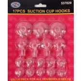 17 Pieces Suction Cup Hooks