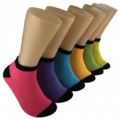 Women's Bright Color Low Cut Ankle Socks