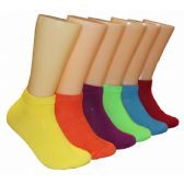 Women's Bright Color Solid Low Cut Ankle Socks