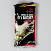 Gloves 12ct Latex S-m Smooth Touch Disposable Venom Brand