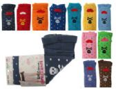 Assorted colored capri tights with skull and heart designs