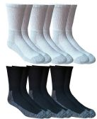 MENS STEEL TOE COTTON HEAVY DUTY WORK SOCKS
