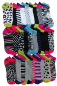 Womans Fashion Printed Low Cut Ankle Socks Size 9-11