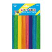 Colored wooden craft stick