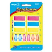 12 Couont eraser assorted colors