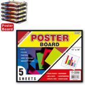 """Poster board neon 11x14""""/5 count"""