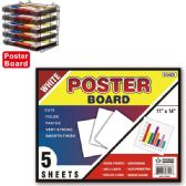 """Poster board white 48's 11x14""""/5 count"""
