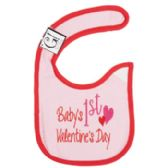 First Valentine's Day Baby Bib