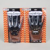 Costume Glove W/soft Plastic Blade Fingers Silver Or Black Hall Blister Card