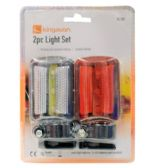 2 Piece Bicycle Safety Flashlight Set