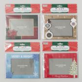 6pk Photoframe Christmas Cards W/envelopes