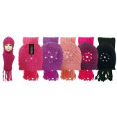 Lady's scarf hat set