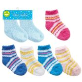 2 Pack baby fuzzy socks assorted sizes