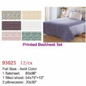 Printed bed sheet set/Full