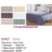 Printed bed sheet set/King