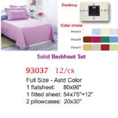 Solid bed sheet set/Full