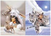 3D Picture 9703--American Indian with Snow
