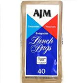 Ajm paper lunch bags 40 Count