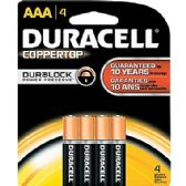Duracell AAA 4 Count